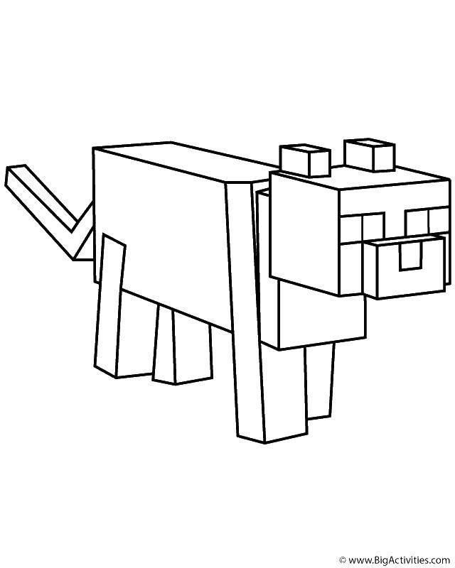 Раскраска Животное из майнкрафт Скачать Игры, Майнкрафт.  Распечатать ,Маинкрафт,