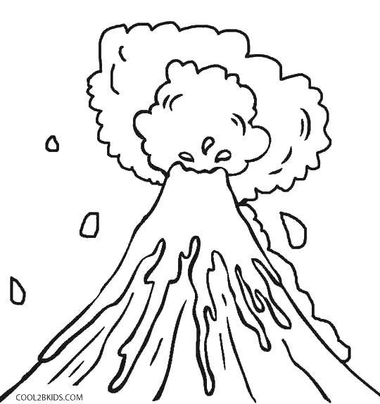Online Coloring Pages Coloring Page The Lava Eruption Volcano