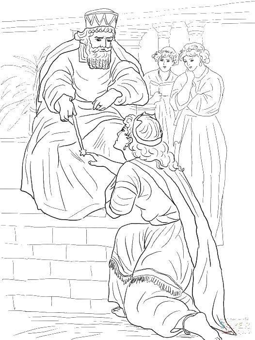 Раскраска Король и подданные Скачать король, подданные.  Распечатать ,Король,