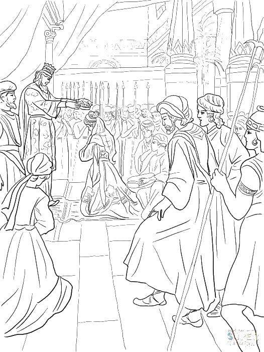 Раскраска Король во дворце Скачать король, королева, королевство, подданные.  Распечатать ,Король,