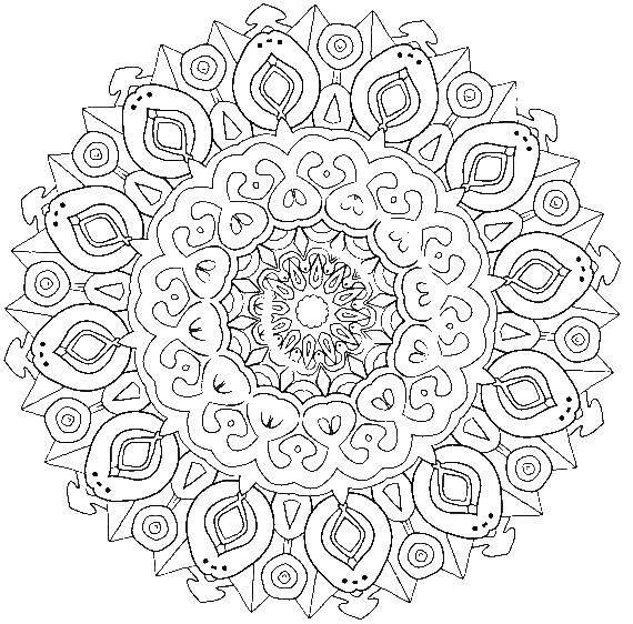 Раскраска Красивые сложные узоры Скачать узоры, антистресс, узор.  Распечатать ,Антистресс,