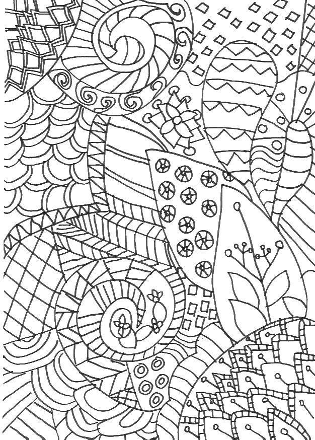 Раскраска Узорчики.. Скачать узорчики, антистресс, листья.  Распечатать ,Антистресс,