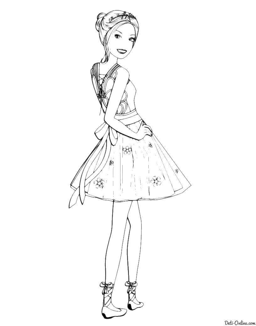 Раскраска Одежда Скачать платья, одежда.  Распечатать ,Платья,
