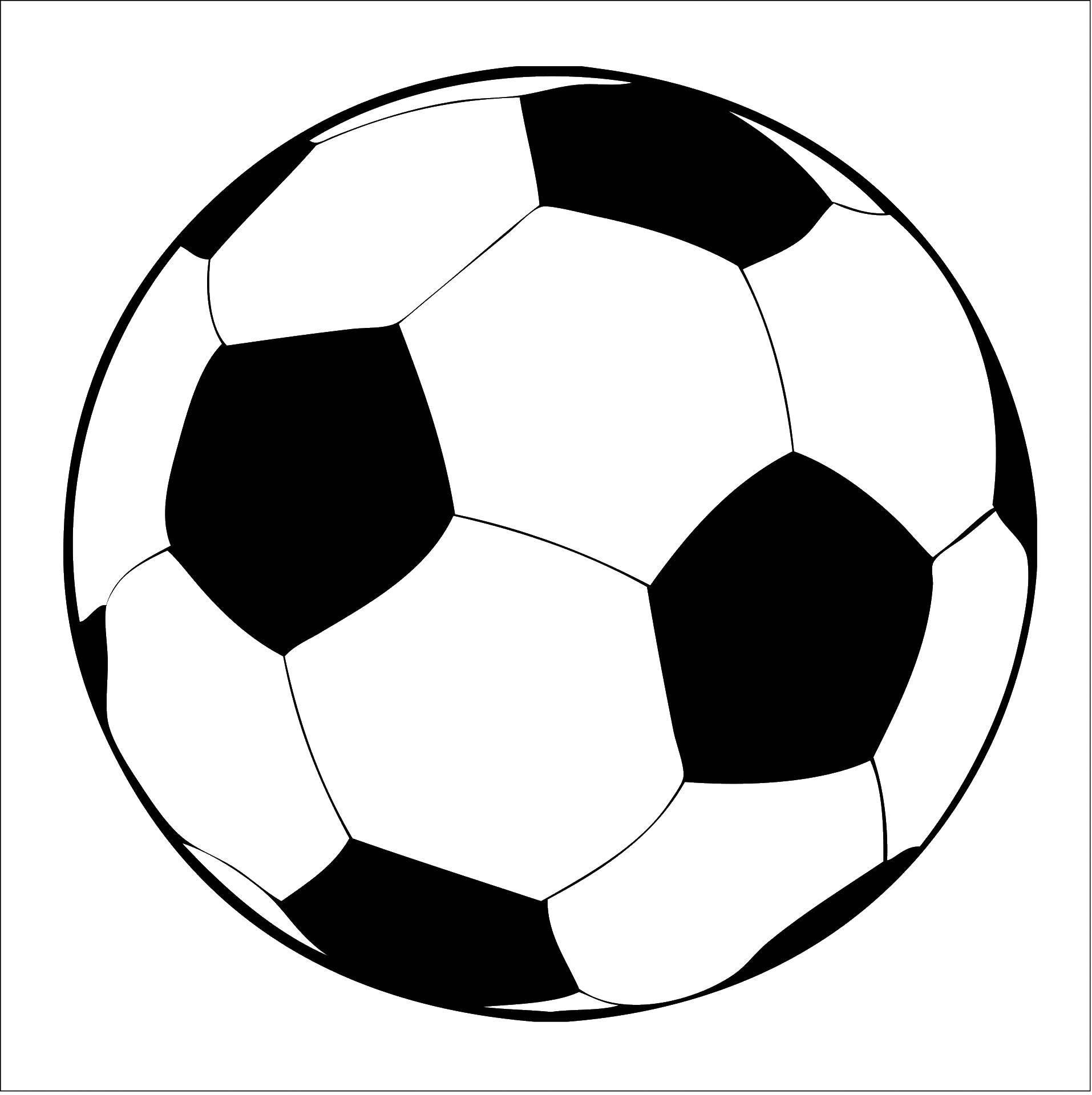 Раскраска Футбольный мяч Скачать спорт, мяч.  Распечатать ,спорт,