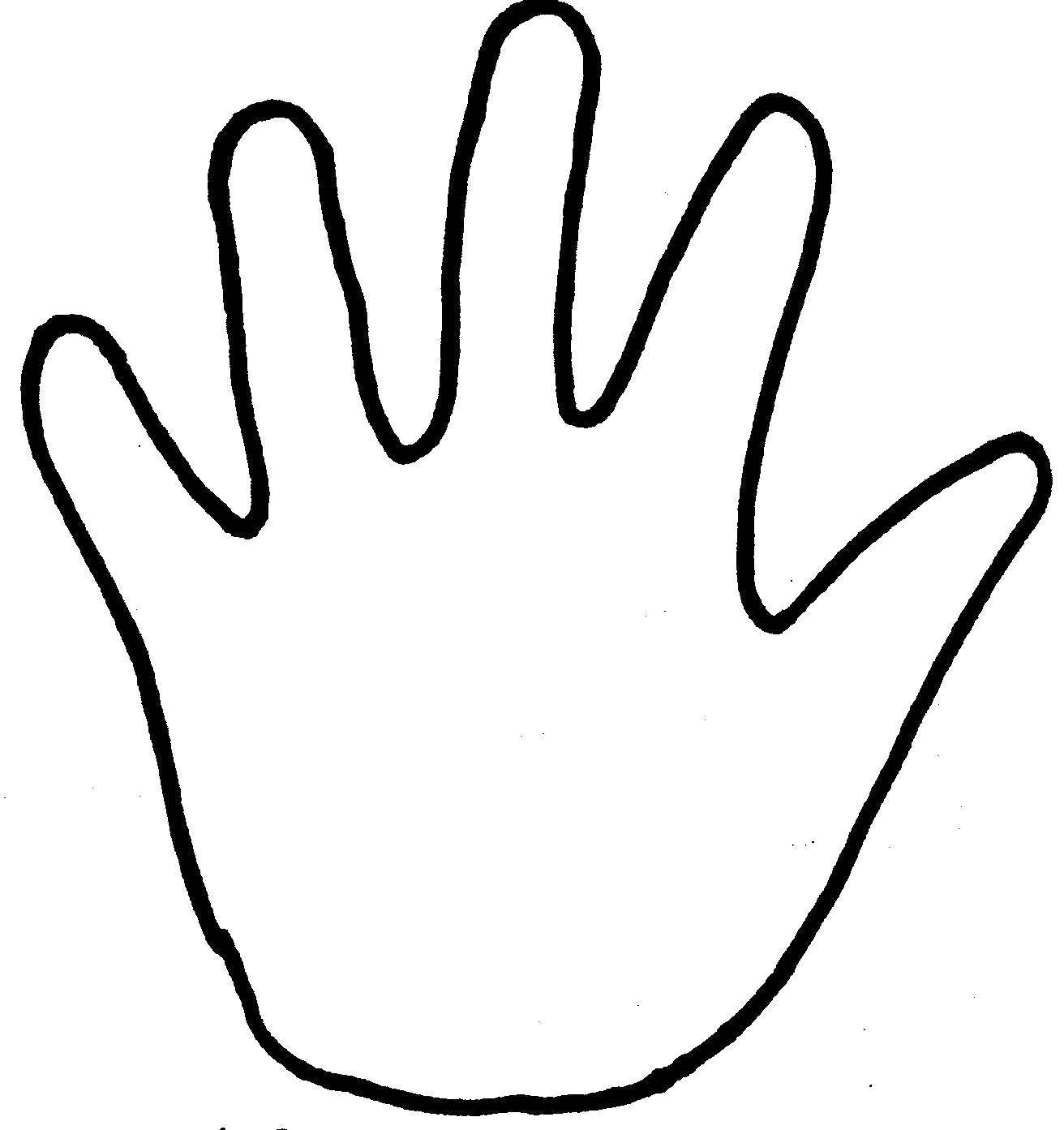 Раскраска Контур руки для вырезания Скачать руки, ладони, для вырезания.  Распечатать ,Контур руки и ладошки для вырезания,