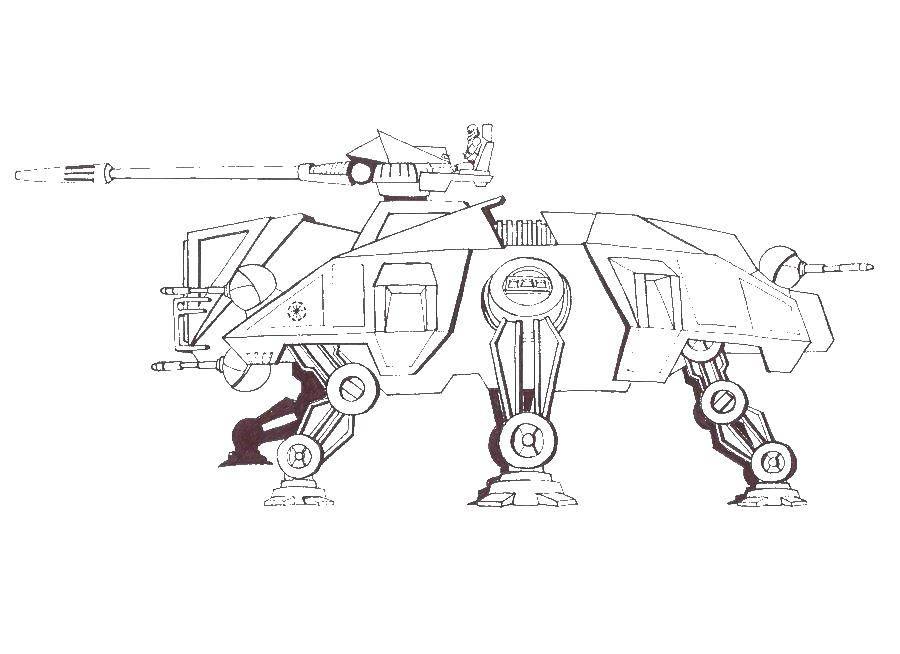 Раскраска Космический робот Скачать космические корабли, робот.  Распечатать ,космические корабли,