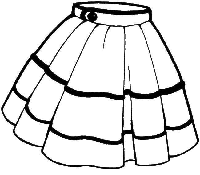 Название: Раскраска Красивая короткаяюбка. Категория: юбка. Теги: юбка, одежда.