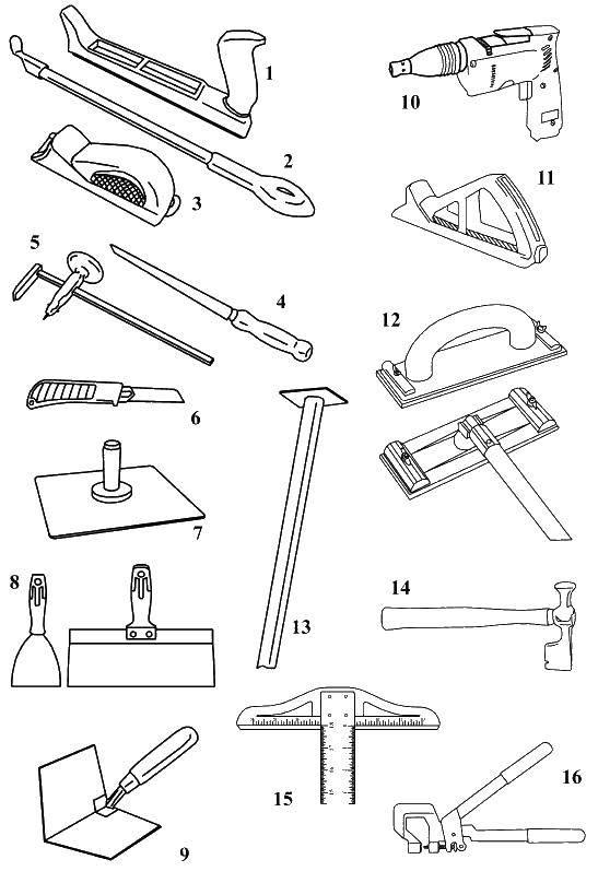 Раскраска Разные инструменты Скачать инструменты, стройка, ремонт.  Распечатать ,инструменты,