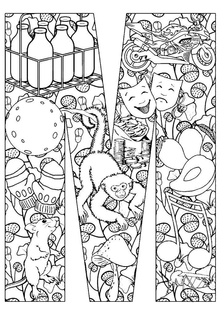 Раскраска предметы Скачать Персонаж из мультфильма, Бен Тен.  Распечатать ,бен тен,