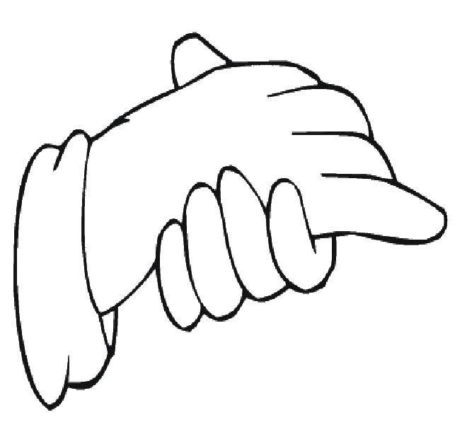 Раскраска Контур руки и ладошки для вырезания Скачать пони, единорог, единороги.  Распечатать ,Пони,