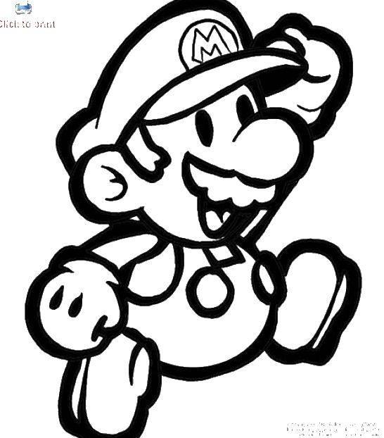 Раскраска Марио марио. Скачать Игры, Марио.  Распечатать ,игры,