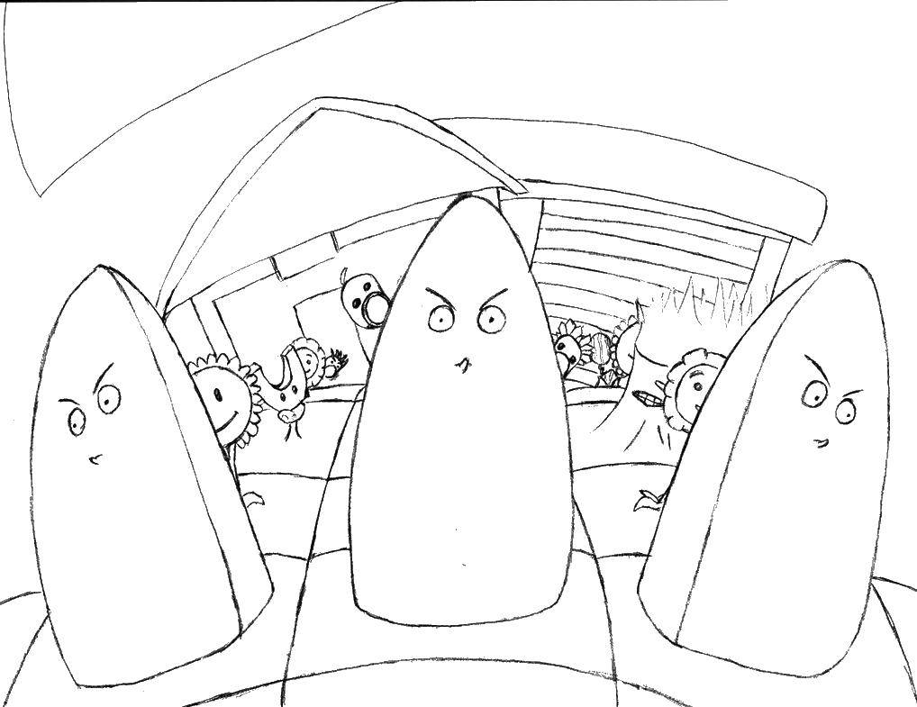 Раскраска Мультфильм растения против зомби Скачать Зомби против растений, мультфильмы.  Распечатать ,Зомби против растений,
