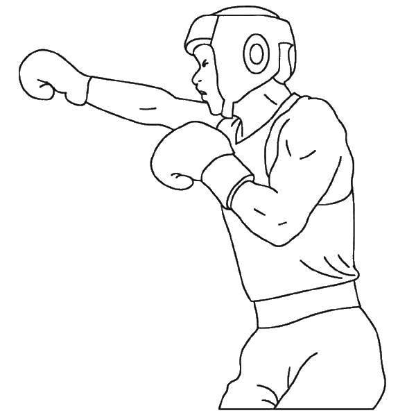 Раскраска Тренировка Скачать Спорт, бокс.  Распечатать ,бокс,
