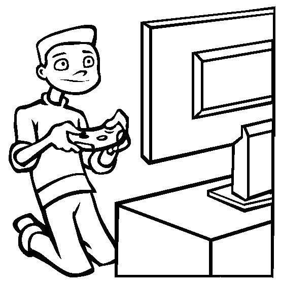 Раскраска Видеоигры. Скачать Техника.  Распечатать ,Техника,