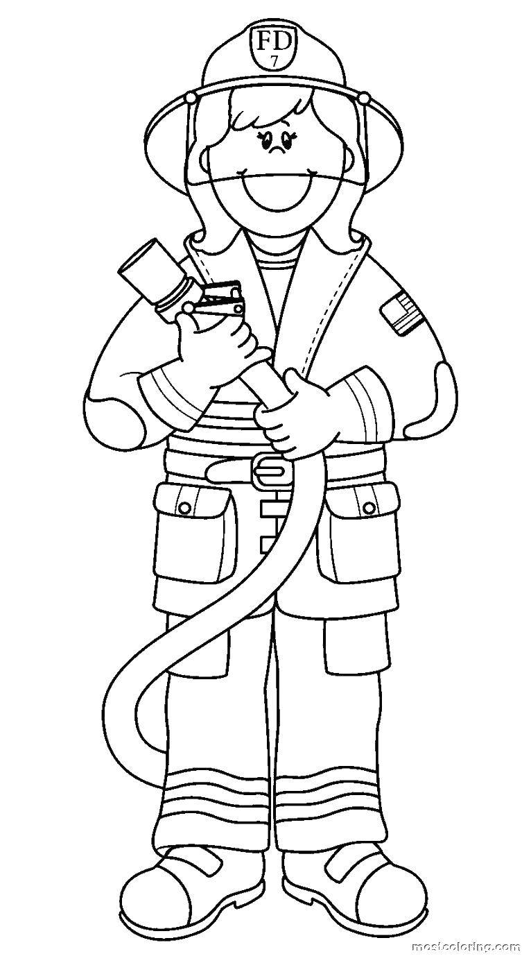 Раскраска раскраска пожарный Скачать Музыка, инструмент, музыкант, ноты.  Распечатать ,Музыка,