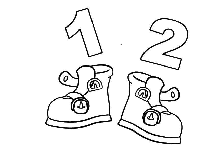 раскраски раскраска ботинки раскраски