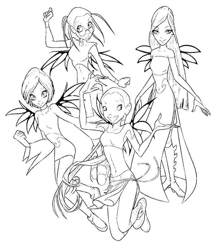 Раскраска Четыре ведьмы витч. Скачать мультфильмы, ведьма, витч.  Распечатать ,ведьма,
