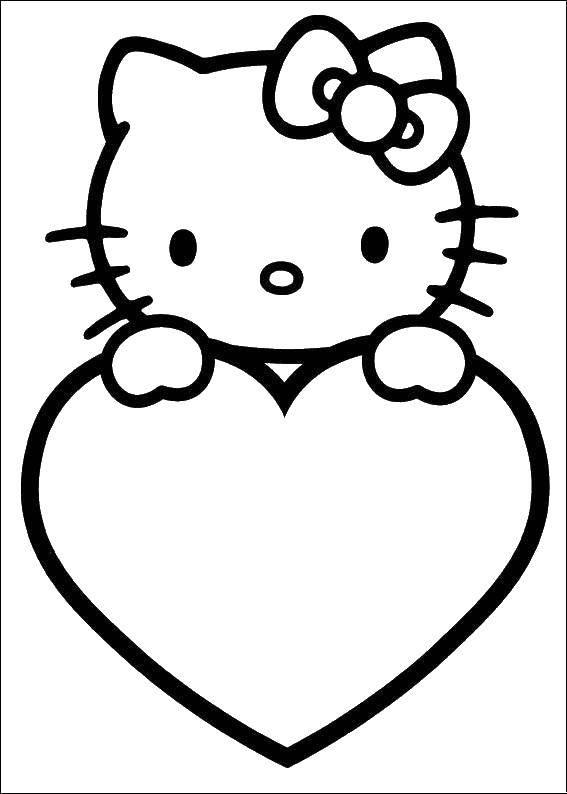 Раскраска День святого валентина Скачать Животные, лиса.  Распечатать ,Лисица,