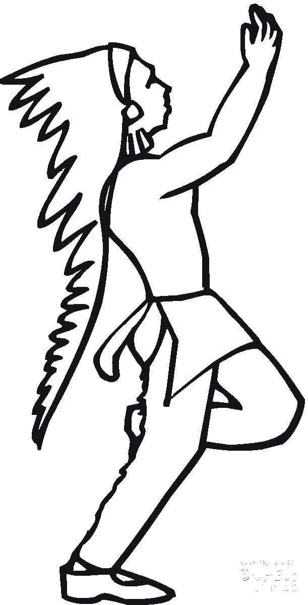 Раскраска Индейцы Скачать баран.  Распечатать ,домашние животные,