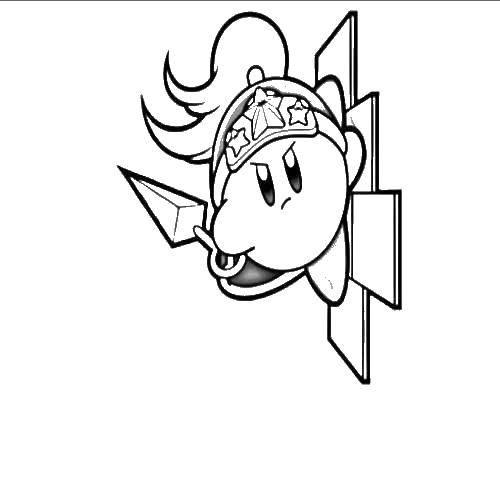 Раскраска Кирби воин Скачать Кирби, игра.  Распечатать ,Кирби,
