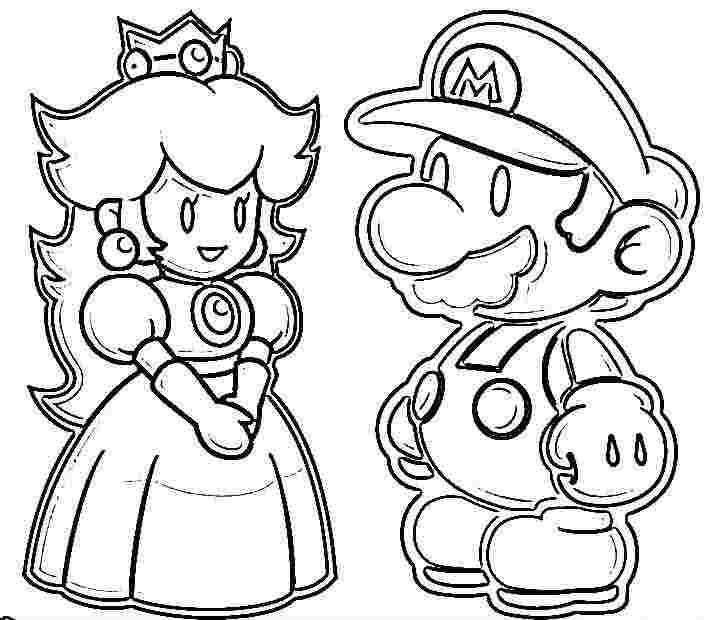 Раскраска Марио и принцесса Скачать марио, игры, супер марио, принцесса.  Распечатать ,марио,