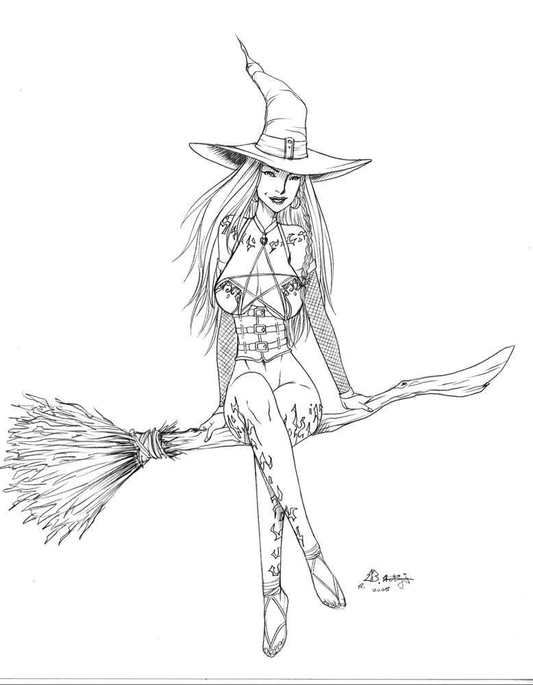 Раскраска ведьма Скачать Драгоценности.  Распечатать ,кольцо,