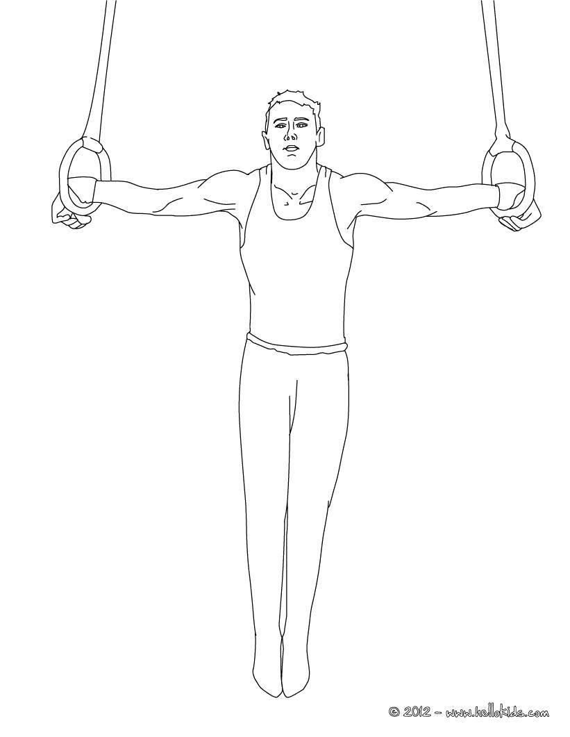 раскраски спортсмен раскраска спортсмен на кольцах гимнастика