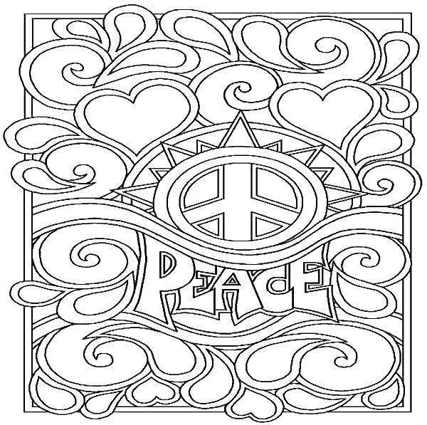 Раскраска Мир и узоры Скачать Антистресс.  Распечатать ,раскраски антистресс,