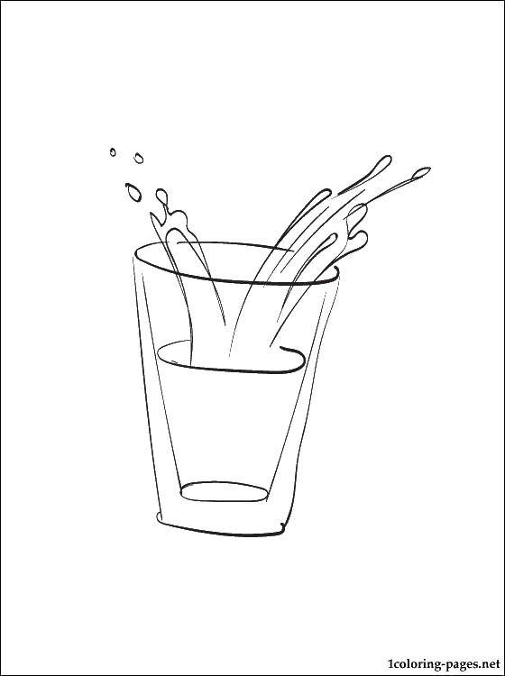 Раскраска Молоко в стаканчике Скачать еда.  Распечатать ,Молоко,