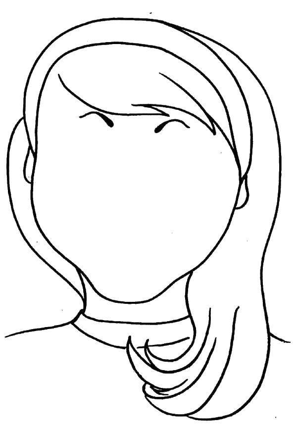 Раскраска лицо Скачать .  Распечатать