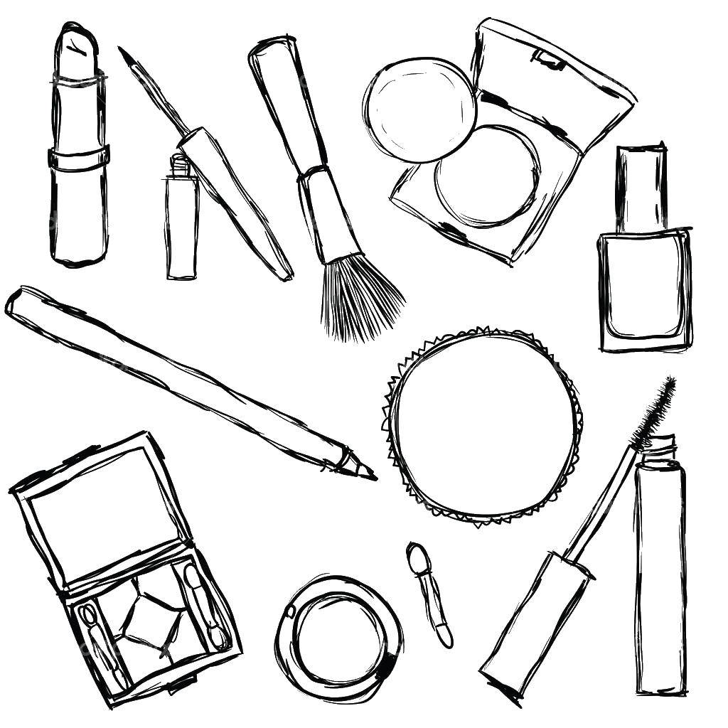 раскраски раскраска косметический набор макияж раскраски