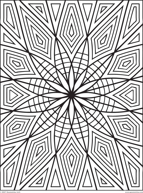 Раскраска Геометрические фигуры и узор Скачать ,Узоры, геометрические,.  Распечатать