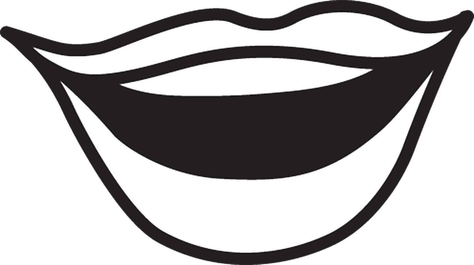 Раскраска Красивые губы Скачать Губы.  Распечатать ,Макияж,