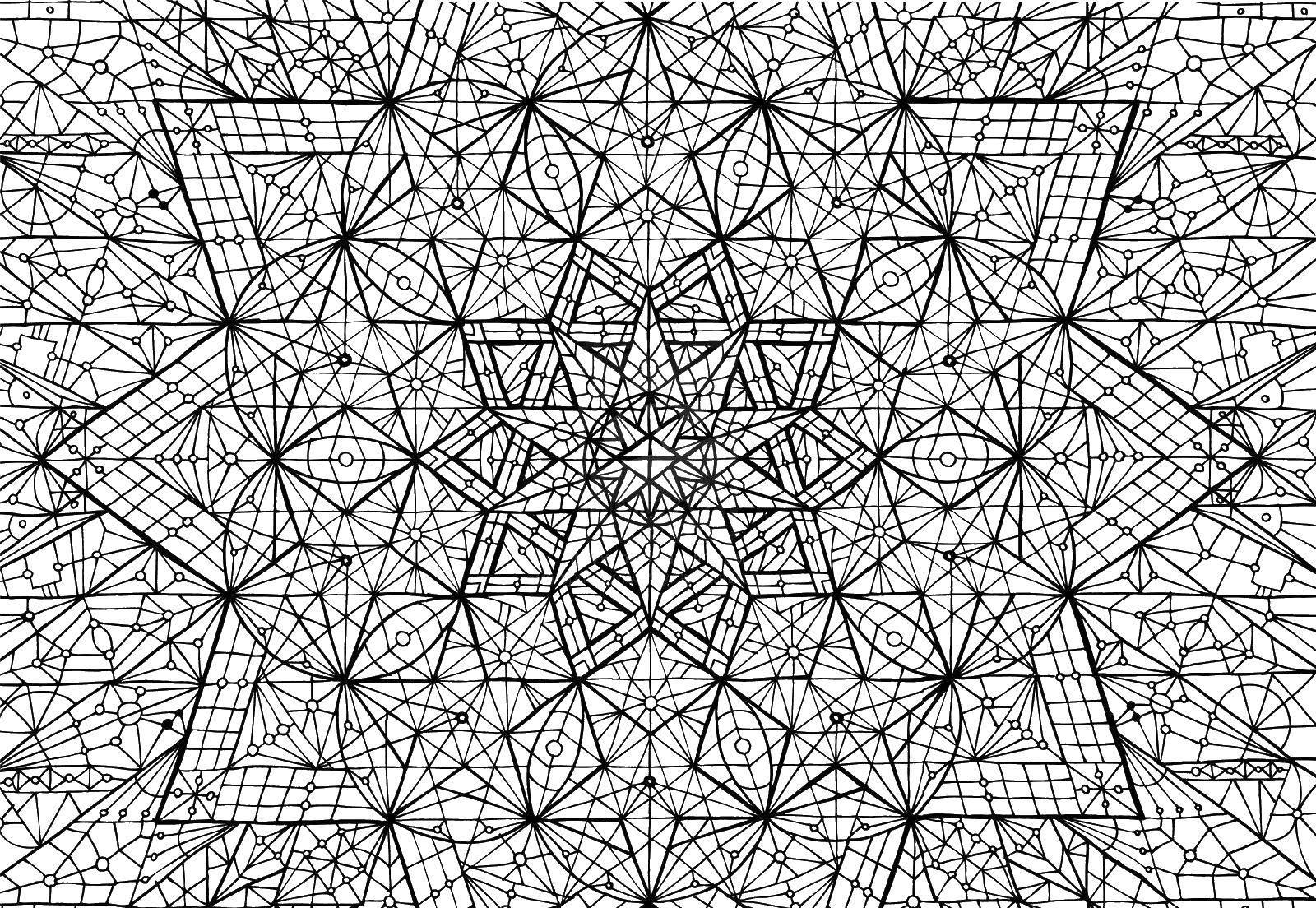 Раскраска Мелкие детали узора Скачать ,Узоры, геометрические,.  Распечатать