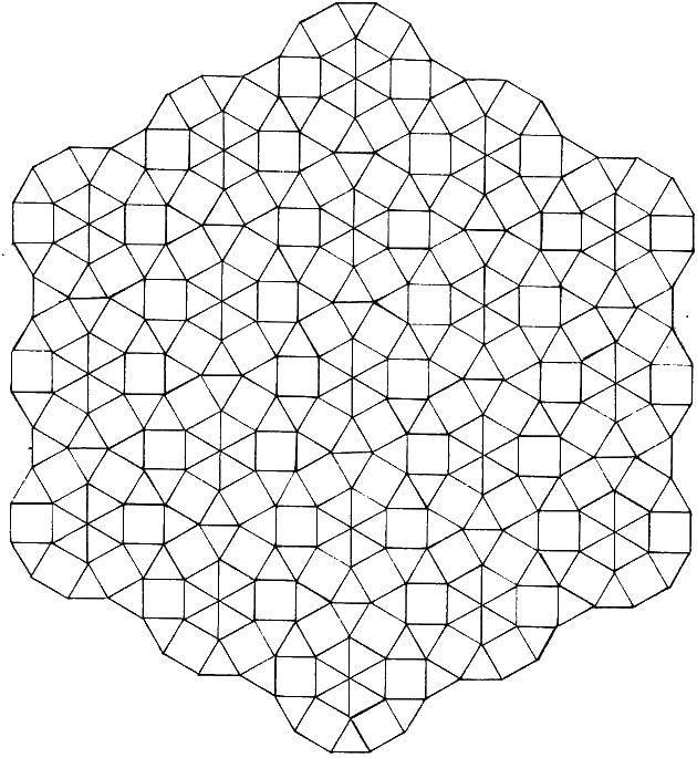Раскраска Объемные узорчики. Скачать Узоры, геометрические.  Распечатать ,С геометрическими фигурами,