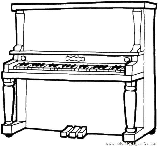 Раскраска Пианино. Скачать музыкальные инструменты, пианино, клавиши.  Распечатать ,Пианино,