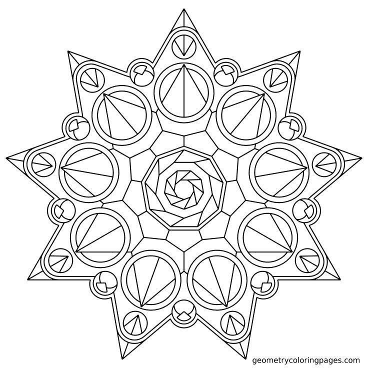 Раскраска Узорная звезда. Скачать ,Узоры, геометрические,.  Распечатать