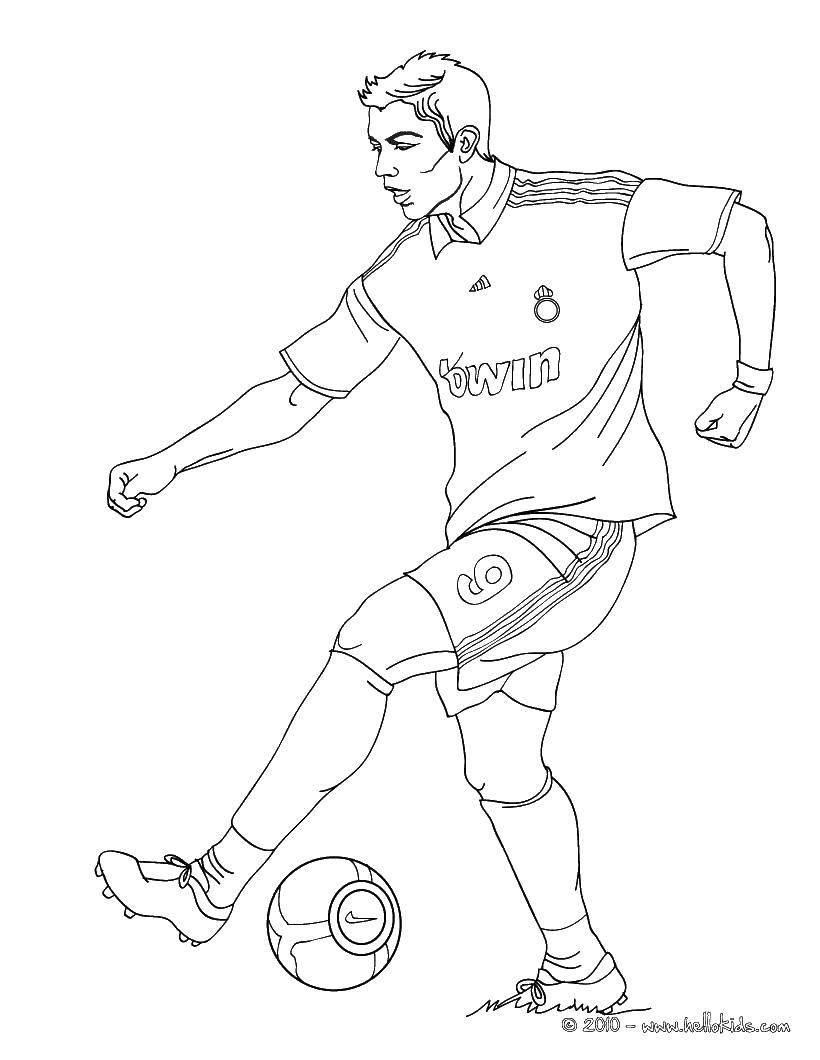 Раскраска Футбол Скачать ,Спорт, футбол, мяч, игра,.  Распечатать