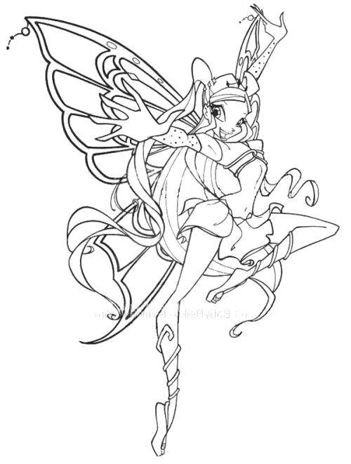 Online Coloring Pages Coloring Page Stella Winx Club Winx Club