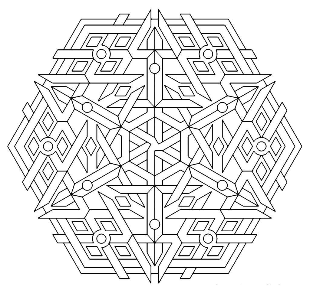Раскраска Грубый узорчик. Скачать Узоры, геометрические.  Распечатать ,С геометрическими фигурами,