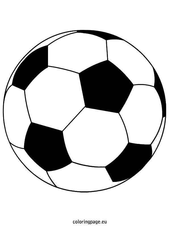 Раскраска Мяч для игры в футбол Скачать Спорт, футбол, мяч, игра.  Распечатать ,Футбол,