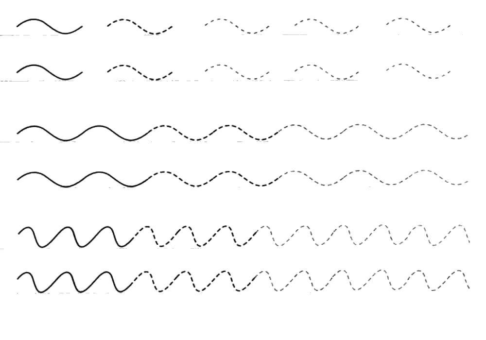 Раскраска Плавные  линии Скачать ,линии, пропись,.  Распечатать