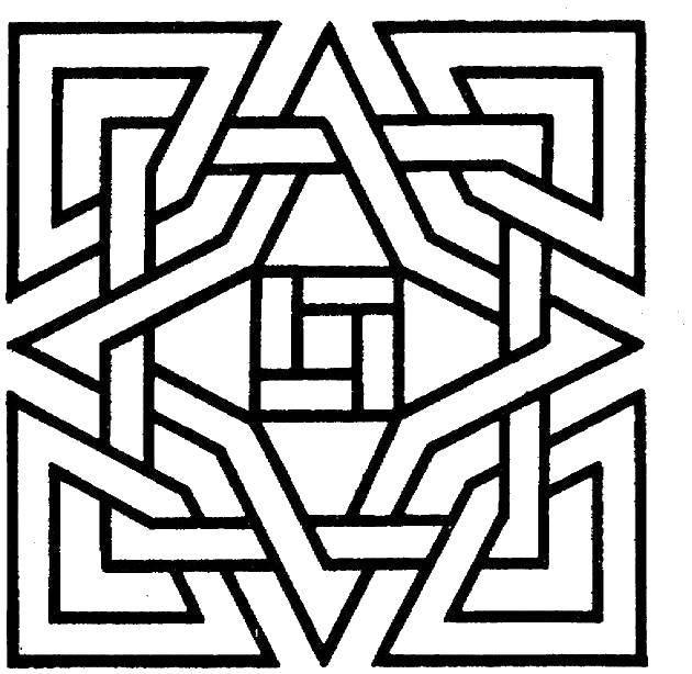Раскраска Простой узор, линии. Скачать Узоры, геометрические.  Распечатать ,С геометрическими фигурами,