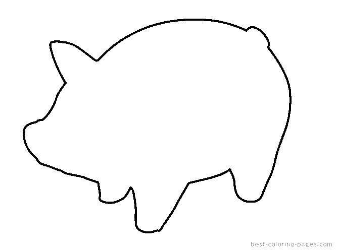 Раскраска Шаблон свинки Скачать трафареты, шаблоны, свинки.  Распечатать ,Трафареты для вырезания,