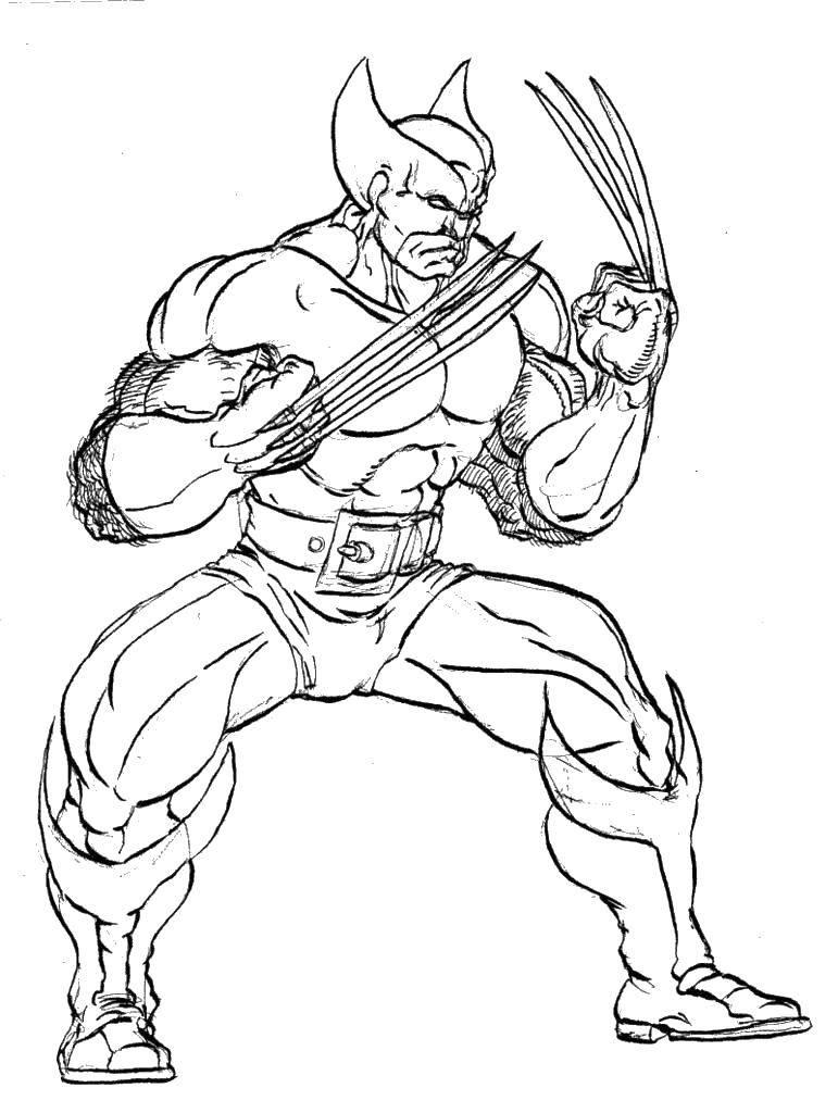 Раскраска Сильнейший мутант Скачать Комиксы.  Распечатать ,Люди икс,