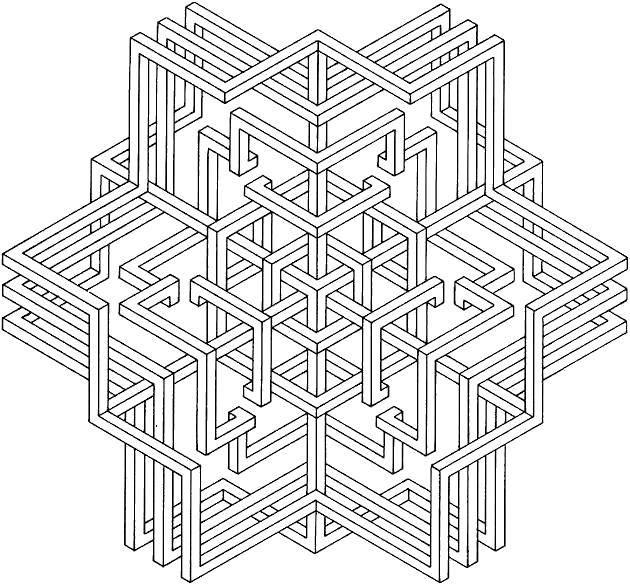 Раскраска С геометрическими фигурами Скачать .  Распечатать