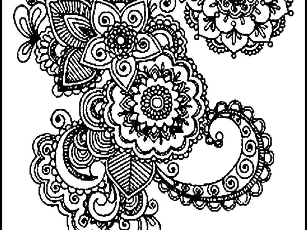 Раскраска Сложный дизайн Скачать минни, платье, бантик.  Распечатать ,микки маус,