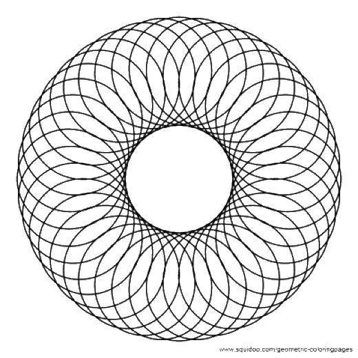 Раскраска Узор из множества кружочков. Скачать Узоры, геометрические.  Распечатать ,С геометрическими фигурами,