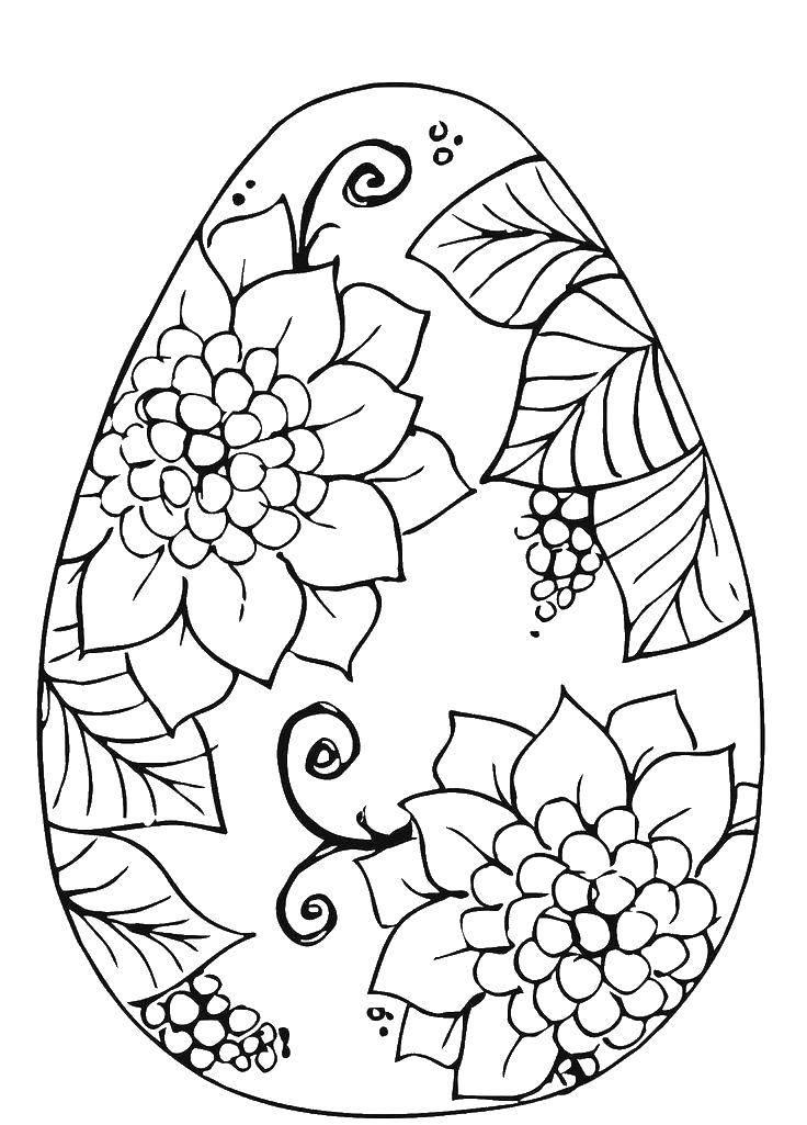 Раскраска пасхальные яйца Скачать Животные, зайчик.  Распечатать ,кролик,