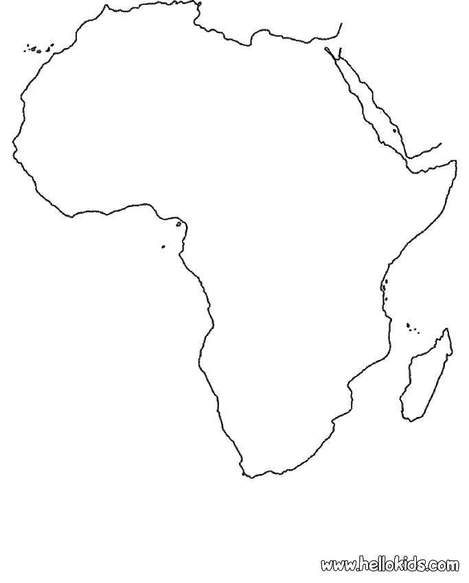 Раскраска Карта африка Скачать страны, карты, Африка.  Распечатать ,Страны мира,